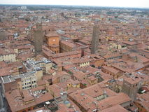 Bologna bird perspective. Bologna, Europe seen from above royalty free stock photography