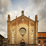 Bologna brick church Royalty Free Stock Photography