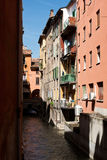 Bologna Canal. The architecture of Bologna, Italy royalty free stock images