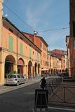 Via Mascarella street in Bologna, Italy. Bologna is the capital and largest city of the Emilia-Romagna Region in Northern Italy Royalty Free Stock Photos
