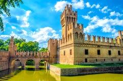Bologna castle Minerbio emilia romagna landmark blue sky italy. Bologna castle Minerbio emilia romagna royalty free stock images