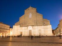 Bologna Cathedral At Night Stock Photos