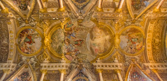 Bologna - ceiling of Chiesa di San Paolo church Royalty Free Stock Image