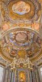 Bologna - Ceiling fresco and altar from Chapel of  Stock Photography