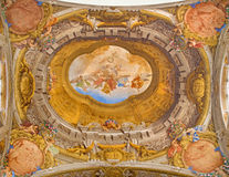 Bologna - Ceiling fresco from Chapel of Rosary in Saint Dominic church Royalty Free Stock Image