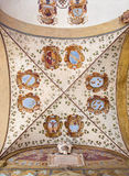Bologna - Ceilinig fresco in external atrium of Archiginnasio Royalty Free Stock Photography
