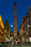 Bologna center by night Royalty Free Stock Images