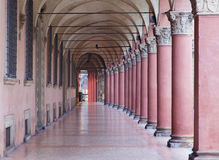 Bologna - Characteristic porticoes from Via Santo Stefano (St. Stephen) Royalty Free Stock Images
