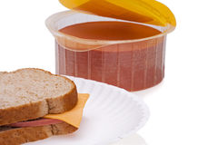 Bologna with Cheese royalty free stock images