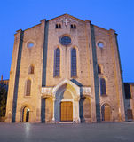 Bologna - Church San Francesco or Saint Francis in evening Royalty Free Stock Image