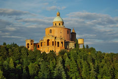 BOLOGNA,IT - CIRCA JUNE 2012 - View of S.Luca church on the hill. S near Bologna, circa June 2012 Royalty Free Stock Photos