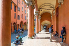 Bologna a city in Red color Stock Images