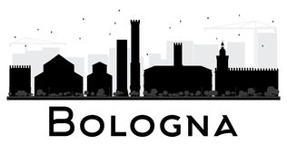 Bologna City skyline black and white silhouette. Royalty Free Stock Photo