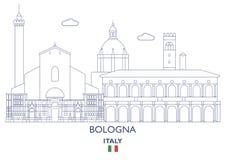 Bologna City Skyline, Italy. Bologna Linear City Skyline, Italy Royalty Free Stock Images