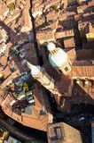 Bologna city view from Two Towers stock photo