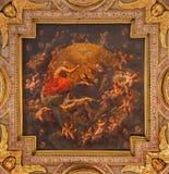 Bologna - The Coronation of Virgin Mary in complex of baroque church Santa Maria della Vita. Stock Photography