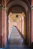 Bologna covered portico. Image of the famous covered porticos of Bologna, taly Royalty Free Stock Images