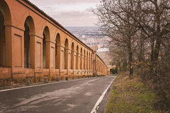 Bologna covered portico. Image of some of the covered porticos that runs throghout the city of Bologna, Italy Stock Photography