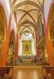 Bologna - dell'interno della chiesa San Martino. Fotografie Stock Libere da Diritti