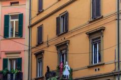 Bologna in den Italien-Straßen-Fotos stockfoto
