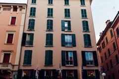 Bologna in den Italien-Straßen-Fotos stockbild