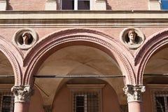 Bologna, detail of building Salina Amorini Bolognini Royalty Free Stock Images