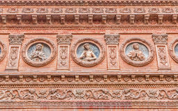 Bologna - Detail from facade of little renaissance chapel of Maltese knights Royalty Free Stock Image