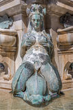 Bologna - Detail of Fontana di Nettuno or Neptune fountain on Piazza Maggiore Stock Photography