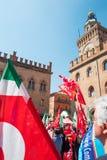 Bologna eine Stadt in der roten Farbe Lizenzfreies Stockfoto