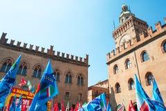Bologna eine Stadt in der roten Farbe Stockfotografie