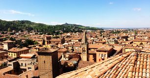 bologna Emilia Italy panoramiczny romagna widok zdjęcie stock
