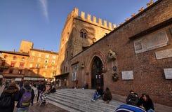 Bologna, Emilia Romagna, Italy. December 2018. Basilica of San Petronio royalty free stock images