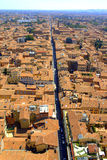 Bologna endless street view Italy Royalty Free Stock Photography