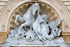 Bologna - Fontana della Ninfa e del Cavallo Marino  - The Fountain of Nymph and Seahorse Stock Image