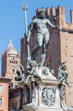 Bologna - Fontana di Nettuno or Neptune fountain on Piazza Maggiore Stock Image