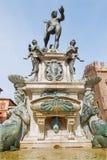 Bologna - Fontana di Nettuno or Neptune fountain on Piazza Maggiore Stock Images