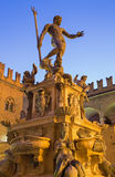 Bologna - Fontana di Nettuno or Neptune fountain on Piazza Maggiore square Stock Photography