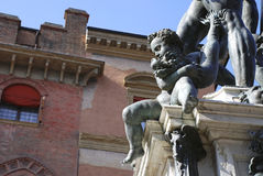 Bologna fontanna Neptune Fotografia Royalty Free