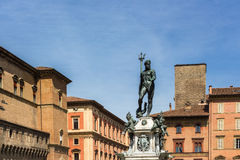 Bologna Fountain of Neptune Stock Photos