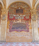 Bologna - Frescoes and epitaphs from External atrium of Archiginnasio Stock Photo