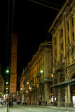 Bologna historical center by night  Stock Photography