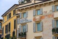 Bologna hotel in Verona, Italy Stock Photography