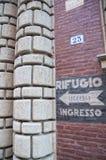 Bologna II WW uchodźcy wejście Zdjęcie Stock