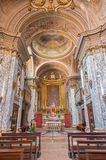 Bologna - Interior of baroque church Saint Mary Magdalene or Santa Maria Maddalena by architect Giovanni Piccinini from 16. cent. Royalty Free Stock Photo