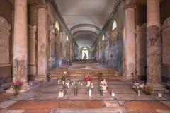 Bologna - Interior corridor of old cemetery (certosa) by St. Girolamo church. Stock Photography