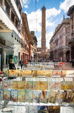 Bologna, Italië, 25 April, 2016: kunstwerken van de stad die binnen hangen Royalty-vrije Stock Afbeeldingen