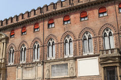 Bologna (Italië), Historisch paleis, voorzijde stock fotografie
