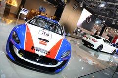 BOLOGNA, ITALIA - 2 DICEMBRE 2010: Maserati Gran Turismo ha esibito al salone dell'automobile di Bologna fotografie stock