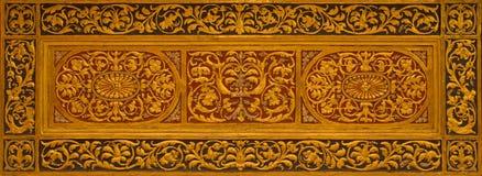 BOLOGNA ITALIEN - MARS 16, 2014: Lättnad från sidoaltaret i Chiesa di San Gregorio e San Siro Royaltyfria Foton