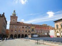 Bologna, Italien - Palazzo Comunale Lizenzfreies Stockbild